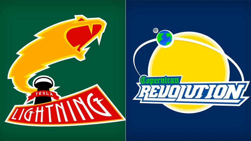 Illustration for article titled Show off your science team spirit with these geeky t-shirts!