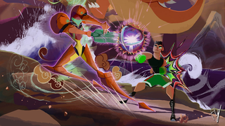 With this design, Smash Bros. suddenly looks like a scene from Samurai Jack in Toxodentrail's ex