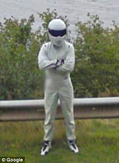 Illustration for article titled The Stig Caught By Google Street View... At Loch Ness