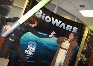 Illustration for article titled BioWare's Halloweeners Mock Their Own Giant Lightsabers