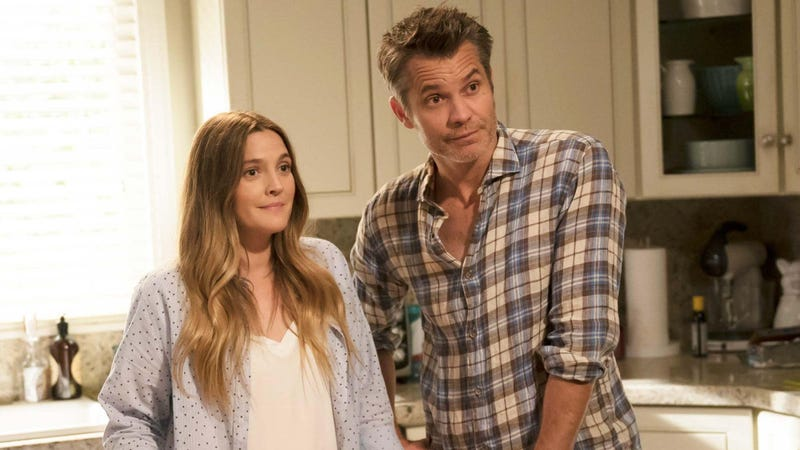Drew Barrymore and Timothy Olyphant in Santa Clarita Diet.