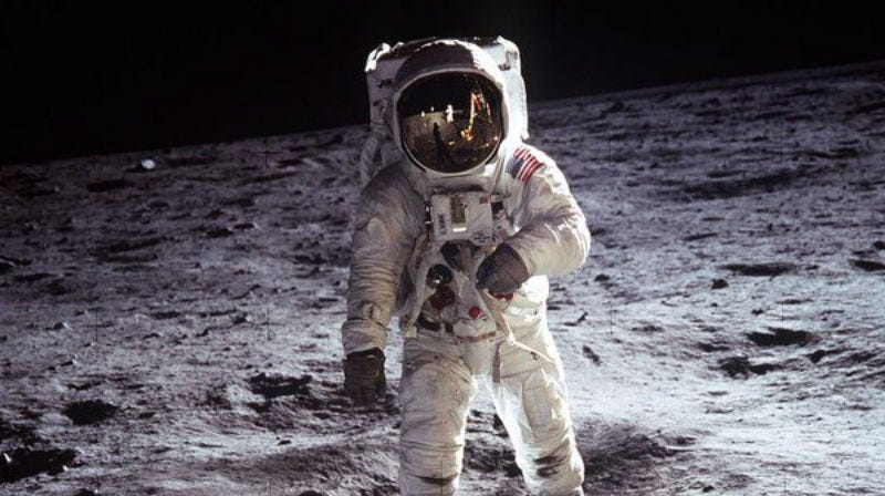 Neil Armstrong took this photo of Buzz Aldrin during the Apollo 11 Moon landing. Armstrong is getting a new biopic. Image: Twitter