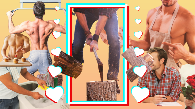 Roses, Blindfolds, and Chopped Wood: Meet the Popular TikTokers Making Romantic Thirst Traps for Women