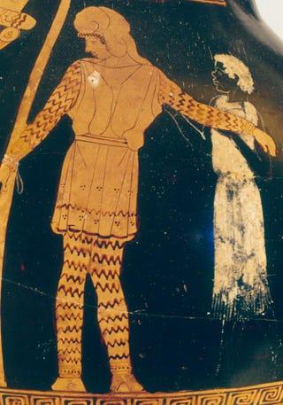 The Niobid Painter, Sacrifice of Andromeda. Red-figure pelike, about 460 B.C.Museum of Fine Arts, Boston