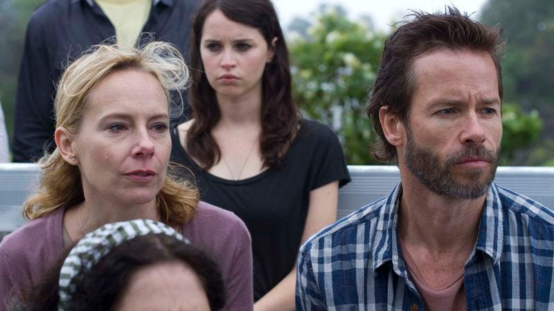 """Illustration for article titled Guy Pearce and co-stars grapple with the clichéd """"naturalism"""" of Breathe In"""