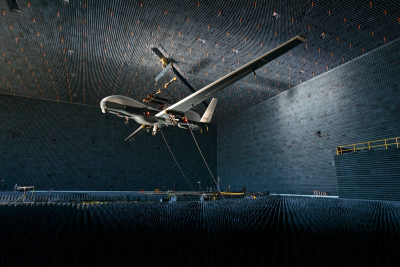Illustration for article titled The Navy's MQ-4C Triton Enters The Sci-Fi Realm Of The Anechoic Chamber