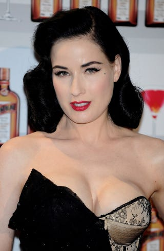 Illustration for article titled Dita Von Teese's Cleavage Too Offensive For TV