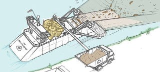 Illustration for article titled Dyson's Massive Floating Trash Vacuum Could Clean Up Our Rivers