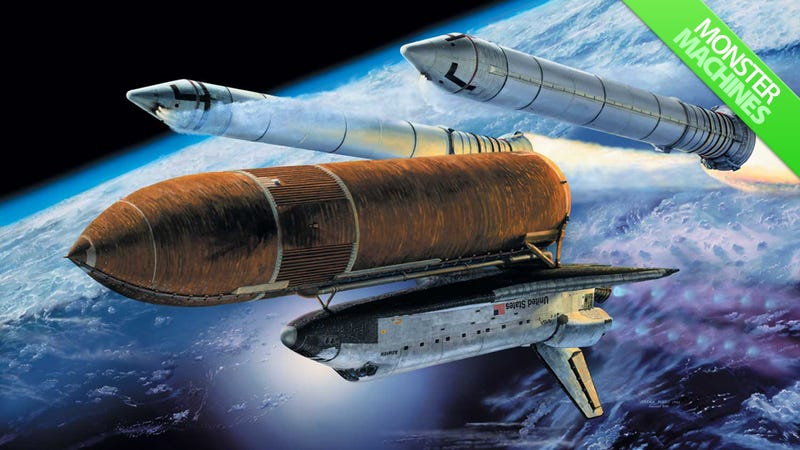 Illustration for article titled The 1.3 Million-Pound Rockets That Shot Endeavour Into Space