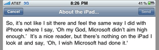 "Illustration for article titled Bill Gates on the iPad: ""It's a Nice Reader, But..."""