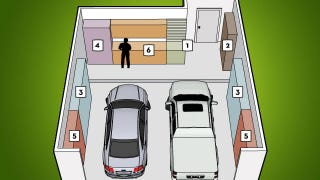 Illustration for article titled Organize Your Garage with This Six-Zone System