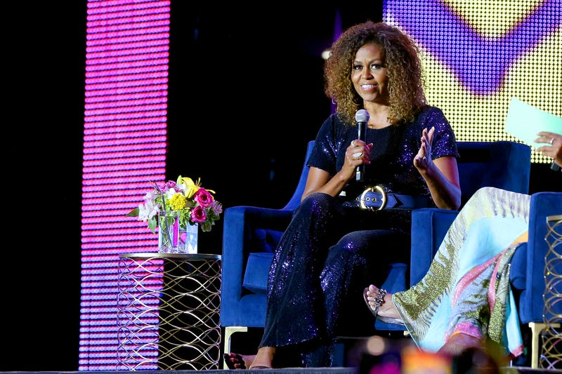 Michelle Obama speaks onstage during the 2019 ESSENCE Festival at Louisiana Superdome on July 06, 2019 in New Orleans, Louisiana.