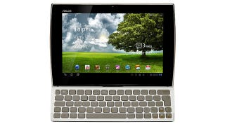 Illustration for article titled The ASUS Eee Pad Slider Slides Its Way Out