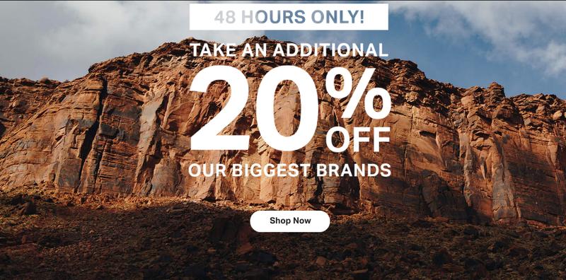 Extra 20% off big brands | Backcountry