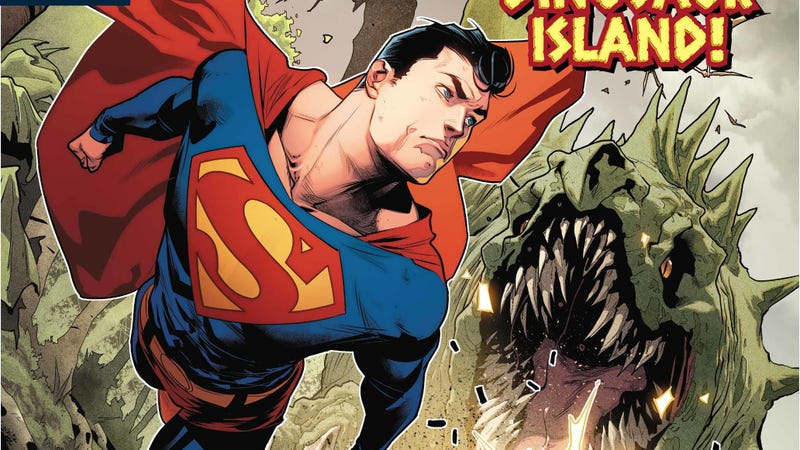 Illustration for article titled Father and son have unfinished dino-business in this Superman Special exclusive