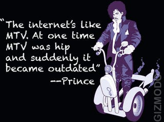 "Illustration for article titled Prince Rants and Raves About the Internet, iTunes and ""Digital Gadgets"""