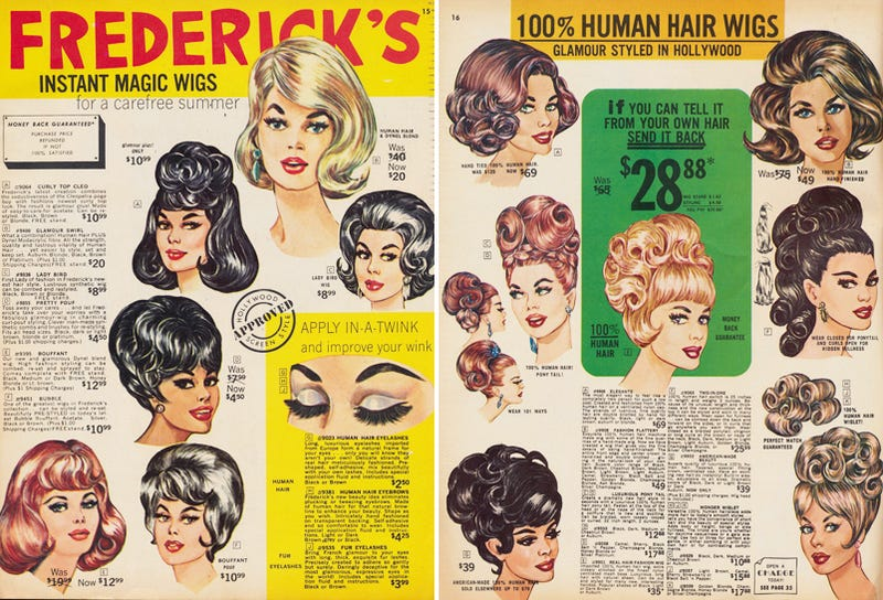 Illustration for article titled Let's Shop for 'Instant Magic' Wigs in 1966