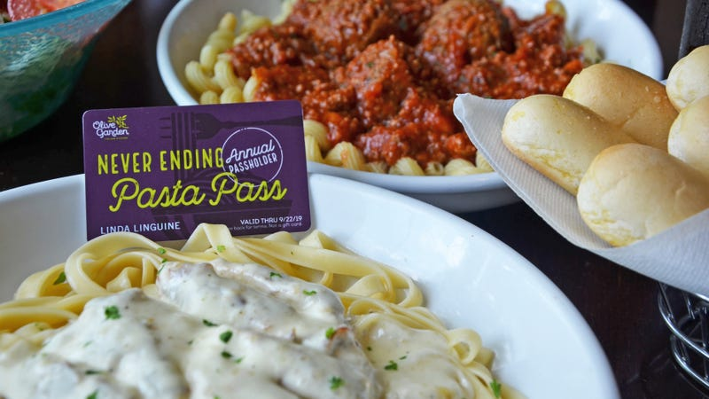 Olive Garden Sells Annual Unlimited All You Can Eat Pasta Pass
