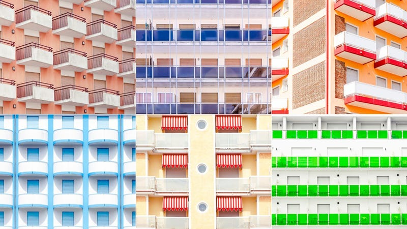 Illustration for article titled Venice's Beachfront Balconies Look Like Boxes of Candy