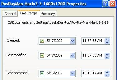 Illustration for article titled SKTimeStamp Adjusts File Creation Dates