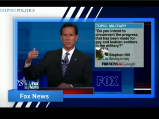 Illustration for article titled VIDEO: GOP-Debate Audience Boos Gay Soldier