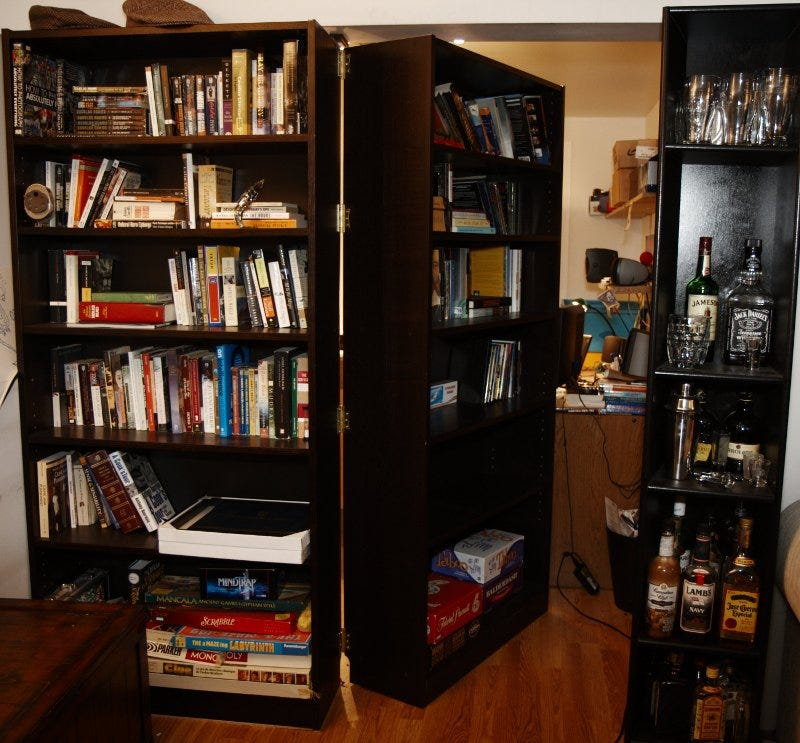Thereu0027s Really No Doubt About It: Secret Passages Are Totally Awesome.  Which Is Why I Canu0027t Help But Be Smitten By This Homemade Hidden Door That  Exposes A ...