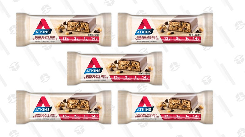 Atkins Meal Bar, Chocolate Chip Cookie Dough, 5 Count (Pack of 6) | $22 | Amazon