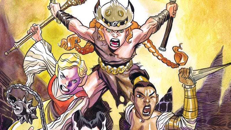 Illustration for article titled Exclusive Oni preview: Damsels cause the distress in Princess Ugg #8