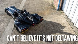 Illustration for article titled Can You Tell The Difference Between Top Gear's Fake DeltaWing And The Real One?