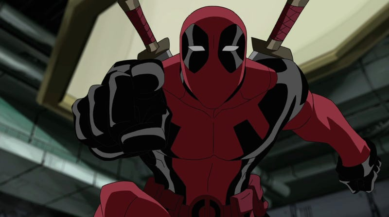 Animated Deadpool (from DisneyXD's Ultimate Spider-Man) knows what you did, Marvel.