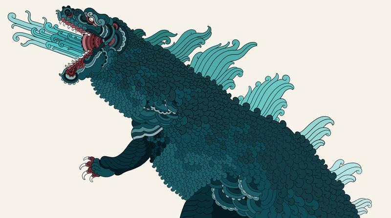 It's a killer Godzilla.