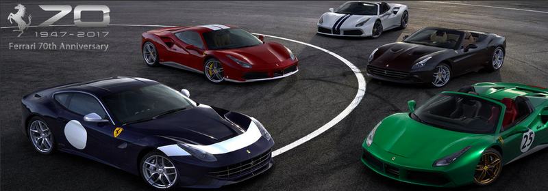 Illustration for article titled Ferrari's 70th Anniversary Cars Pay Homage To Great Race Drivers And Also Steve McQueen