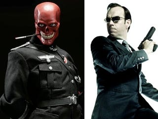 Illustration for article titled Agent Smith Is Captain America's Nemesis, The Red Skull
