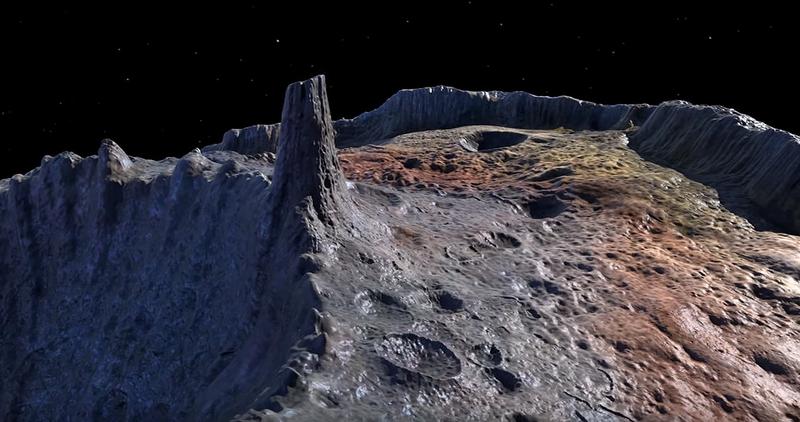 Interpretación artística de la superficie de Psyche. Vía NASA