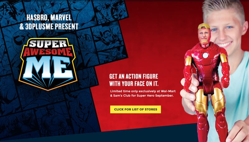 Illustration for article titled Get a Marvel figure with your Face - Unless you want a Female hero