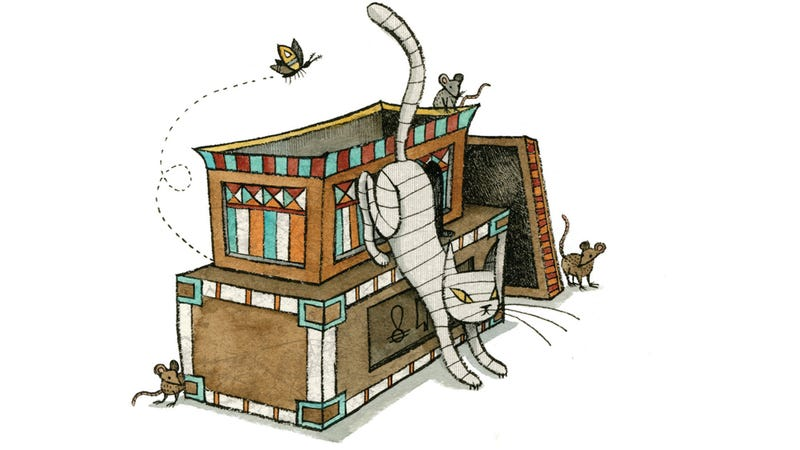 Illustration for article titled Mummy Cat Is The Utterly Adorable Undead Creature That Your Kids Will Love