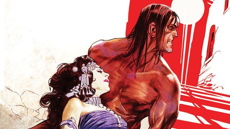 Illustration for article titled Death threatens romance in Conan The Barbarian #12