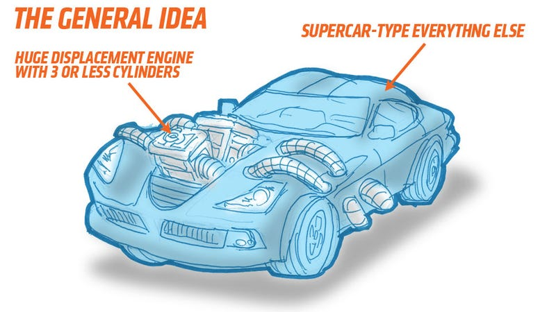 Illustration for article titled We Can Make Supercars Fun Again By Making Them Vastly More Insane