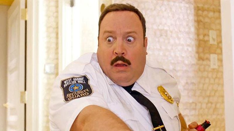 Kevin James, expressing his Blartistic self.