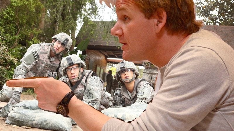 Fake prince harry and real gordon ramsay push enlisted off for Kitchen nightmares fake