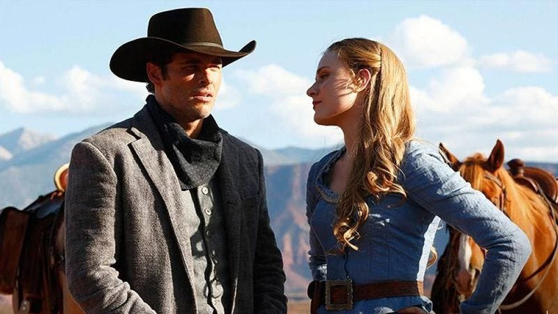 James Marsden and Evan Rachel Wood in Westworld (Photo: HBO)