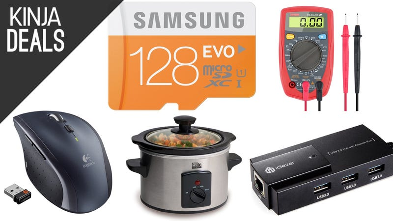 Illustration for article titled Today's Best Deals: Logitech Mice, Powerful Garbage Disposal, and More