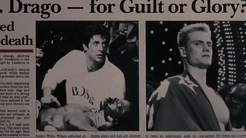 Illustration for article titled College Humor uses 30 For 30 to remember when Rocky ended the Cold War