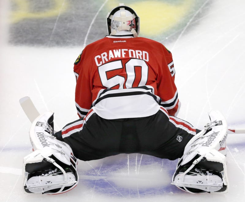 Illustration for article titled Corey Crawford Is Out A Few Weeks Because He Fell At A Concert