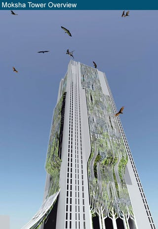 Illustration for article titled The skyscraper necropolis of Mumbai