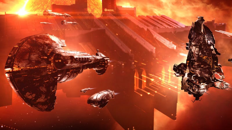 Illustration for article titled Devious EVE Online AI Finally Defeated By Hundreds Of Puny Ships