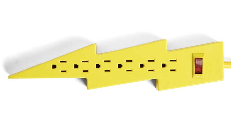Illustration for article titled Lightning Bolt Power Strip Reminds You To Play It Safe
