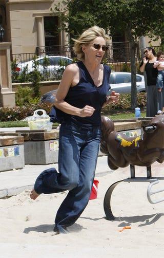 Illustration for article titled Sharon Stone: Jog Wild
