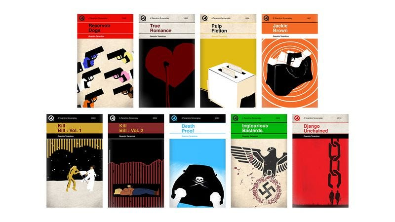 Illustration for article titled And now the Quentin Tarantino filmography has been reimagined as Penguin books