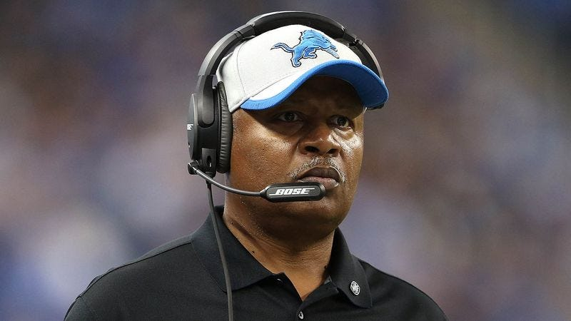 Illustration for article titled Jim Caldwell Provides Lions Players With Printouts Of Inspiring Halftime Speech